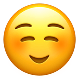 Smiling Face Emoji on Apple macOS and iOS iPhones