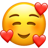 Smiling Face With Hearts Emoji on Apple macOS and iOS iPhones