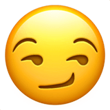 Smirking Face Emoji on Apple macOS and iOS iPhones
