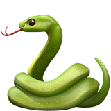 Snake Emoji on Apple macOS and iOS iPhones
