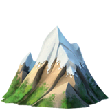 Snow-Capped Mountain Emoji on Apple macOS and iOS iPhones