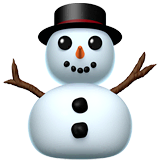 Snowman Without Snow Emoji on Apple macOS and iOS iPhones
