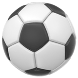 Soccer Ball Emoji on Apple macOS and iOS iPhones