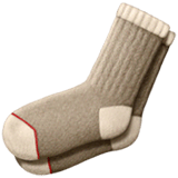 Socks Emoji on Apple macOS and iOS iPhones