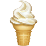 Soft Ice Cream Emoji on Apple macOS and iOS iPhones
