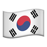 Flag: South Korea Emoji on Apple macOS and iOS iPhones