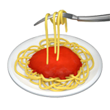 Spaghetti Emoji on Apple macOS and iOS iPhones
