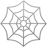 Spider Web Emoji on Apple macOS and iOS iPhones