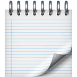 Spiral Notepad Emoji on Apple macOS and iOS iPhones