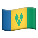 Flag: St. Vincent & Grenadines Emoji on Apple macOS and iOS iPhones