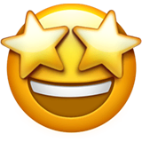 Star-Struck Emoji on Apple macOS and iOS iPhones