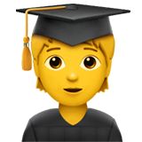 Student Emoji on Apple macOS and iOS iPhones