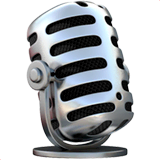 Studio Microphone Emoji on Apple macOS and iOS iPhones