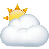Sun Behind Cloud Emoji on Apple macOS and iOS iPhones