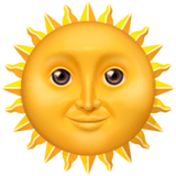 Sun With Face Emoji on Apple macOS and iOS iPhones
