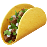 Taco Emoji on Apple macOS and iOS iPhones