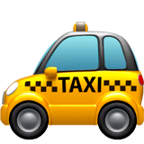 Taxi Emoji on Apple macOS and iOS iPhones