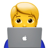 Technologist Emoji on Apple macOS and iOS iPhones
