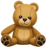 Teddy Bear Emoji on Apple macOS and iOS iPhones