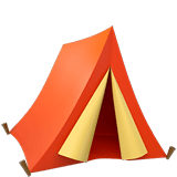 Tent Emoji on Apple macOS and iOS iPhones