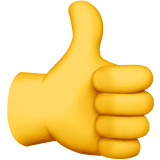 Thumbs Up Emoji on Apple macOS and iOS iPhones