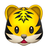 Tiger Face Emoji on Apple macOS and iOS iPhones