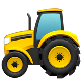 Tractor Emoji on Apple macOS and iOS iPhones
