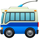 Trolleybus Emoji on Apple macOS and iOS iPhones