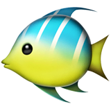 Tropical Fish Emoji on Apple macOS and iOS iPhones