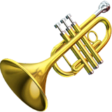 Trumpet Emoji on Apple macOS and iOS iPhones