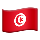 Tunisia Emoji on Apple macOS and iOS iPhones
