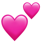 Two Hearts Emoji on Apple macOS and iOS iPhones