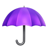 Umbrella Emoji on Apple macOS and iOS iPhones
