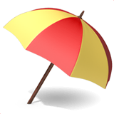 Umbrella on Ground Emoji on Apple macOS and iOS iPhones