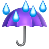 Umbrella With Rain Drops Emoji on Apple macOS and iOS iPhones