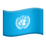 Flag: United Nations Emoji on Apple macOS and iOS iPhones