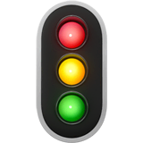 Vertical Traffic Light Emoji on Apple macOS and iOS iPhones