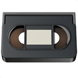 Videocassette Emoji on Apple macOS and iOS iPhones