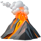 Volcano Emoji on Apple macOS and iOS iPhones