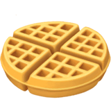 Waffle Emoji on Apple macOS and iOS iPhones