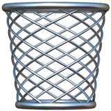 Wastebasket Emoji on Apple macOS and iOS iPhones