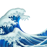 Water Wave Emoji on Apple macOS and iOS iPhones