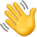 Waving Hand Emoji on Apple macOS and iOS iPhones