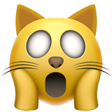 Weary Cat Emoji on Apple macOS and iOS iPhones