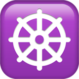 Wheel Of Dharma Emoji on Apple macOS and iOS iPhones