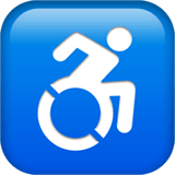 Wheelchair Symbol Emoji on Apple macOS and iOS iPhones