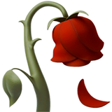 Wilted Flower Emoji on Apple macOS and iOS iPhones