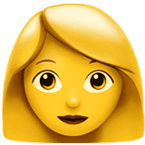 Woman Emoji on Apple macOS and iOS iPhones