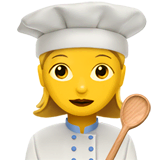 Woman Cook Emoji on Apple macOS and iOS iPhones