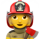 Woman Firefighter Emoji on Apple macOS and iOS iPhones